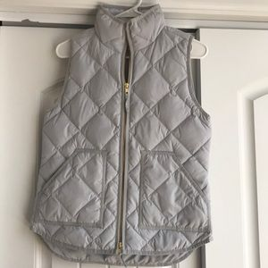 Light Gray J Crew Puffer Vest